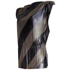 "Gianni VERSACE ""New"" Haute Couture Single Piece Titanium Silver Dress- Unworn"