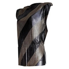 "Gianni VERSACE ""New"" Haute Couture Single Piece Titanium Silver Dress- Unworn"