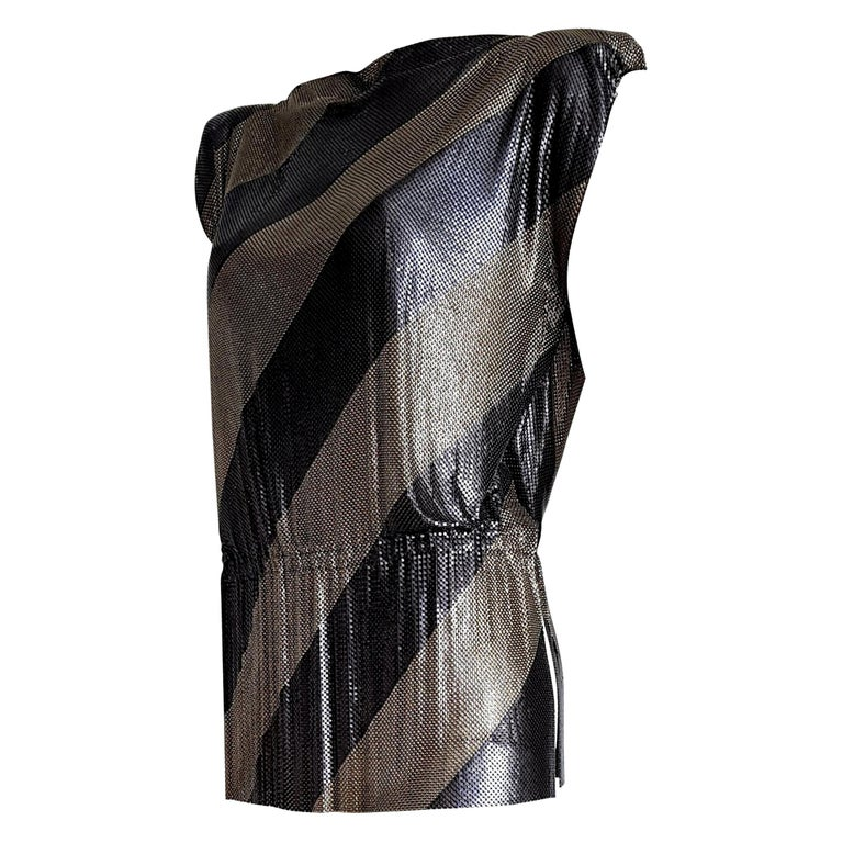 "Gianni VERSACE ""New"" Haute Couture Single Piece Titanium Silver Dress- Unworn    For Sale"