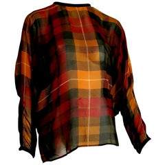 "Gianni VERSACE ""New"" Haute Couture Unique Piece Silk Chiffon Shirt - Unworn"