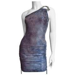 Gianni Versace New One Shoulder Dress with Hardware