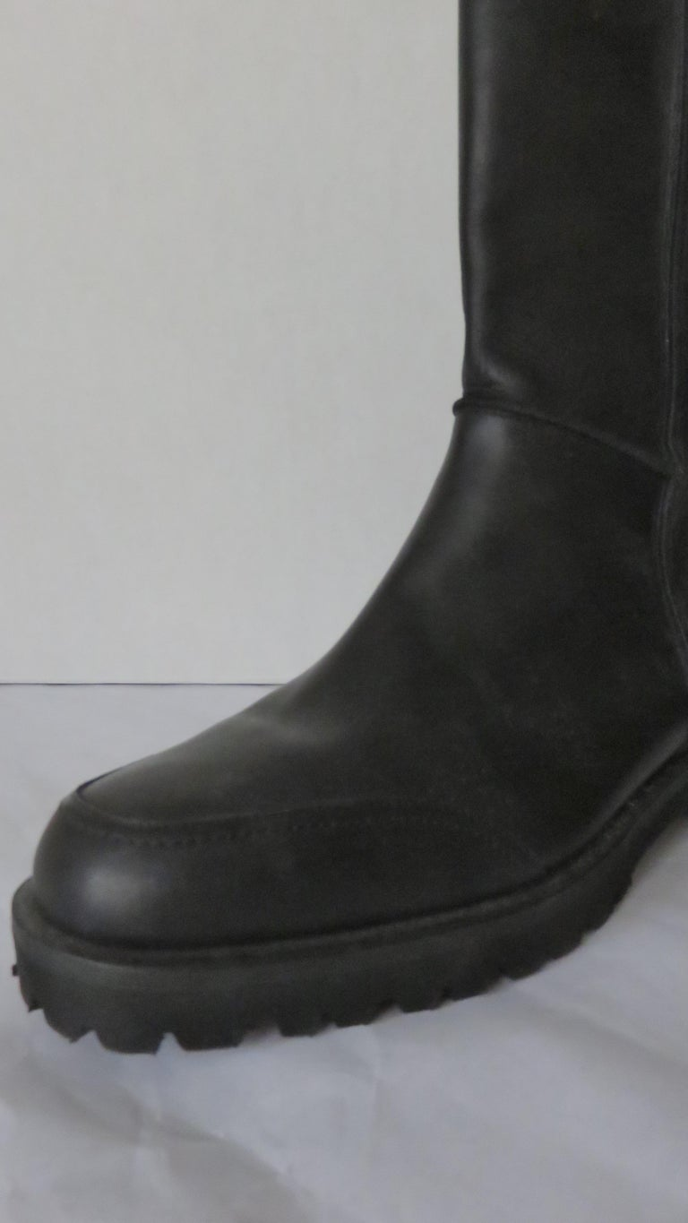 Gianni Versace New Size 37.5 Safety Pin Boots 1990s For Sale 3