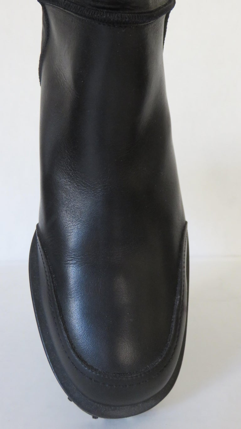 Gianni Versace New Size 37.5 Safety Pin Boots 1990s For Sale 4