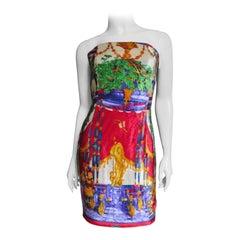 Gianni Versace New Velvet Bustier Corset Dress 1990s