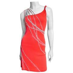 Gianni Versace One Shoulder Dress 1990s