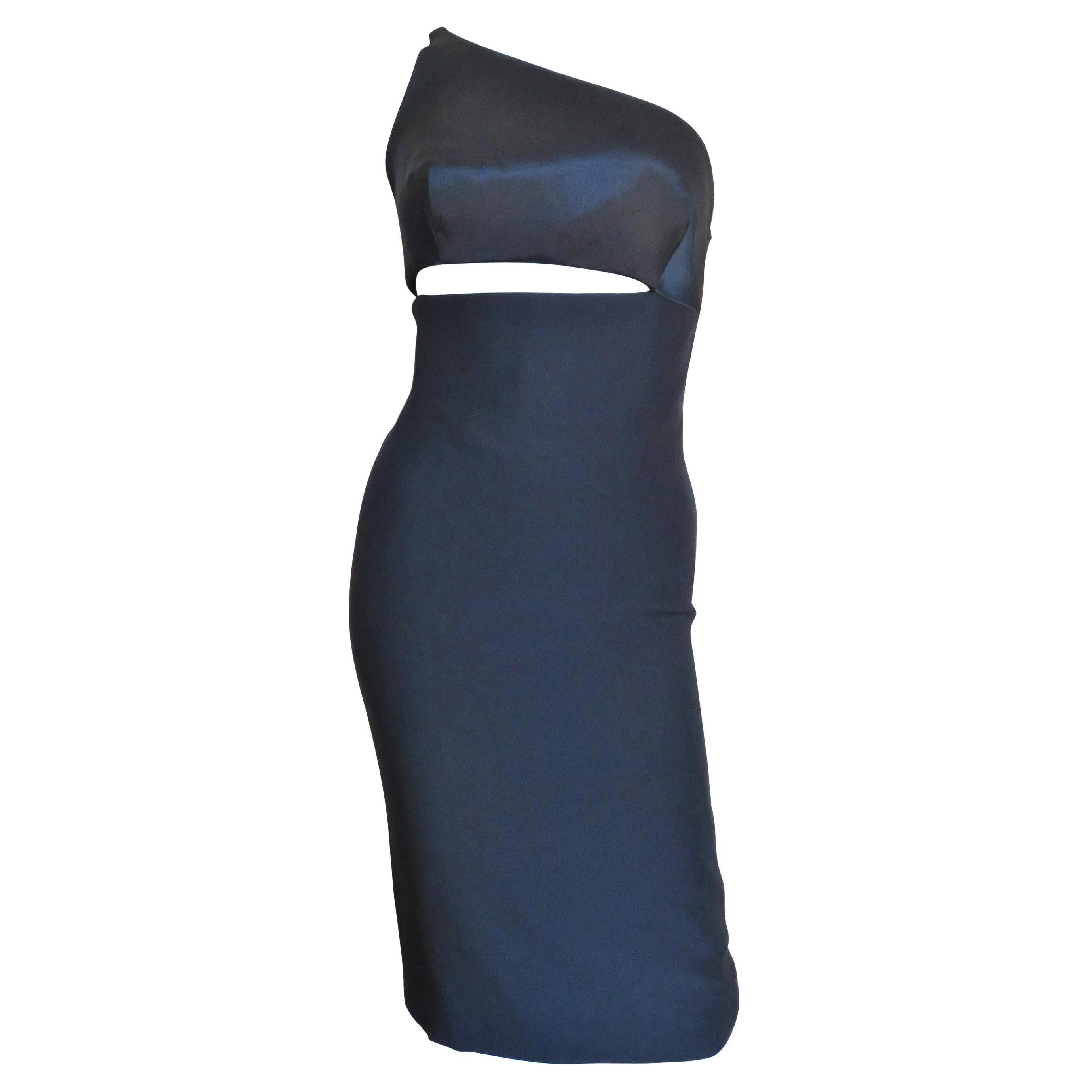 Gianni Versace One Shoulder Dress with Cut out
