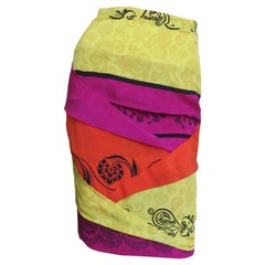 Gianni Versace Origami Color Block Skirt 1990s