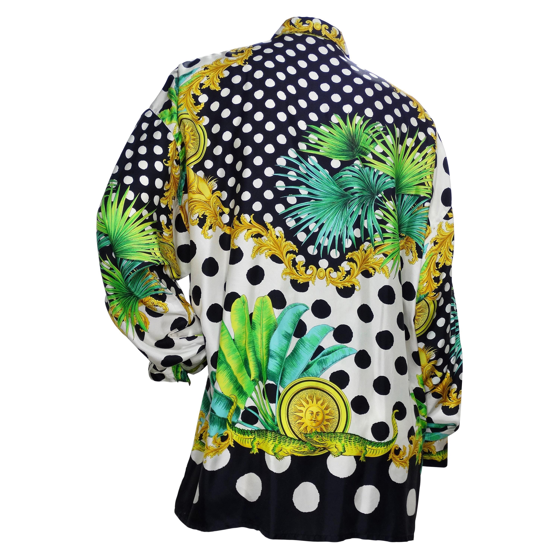 Gianni Versace Polka Dot Silk Shirt