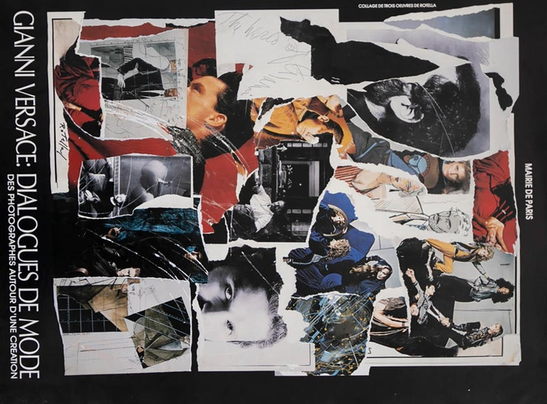 Modern GIANNI VERSACE Poster created by Mimmo Rotella for Mostra Dialogue du Mode, 1987 For Sale