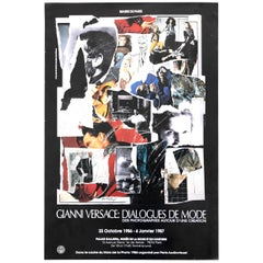 GIANNI VERSACE Poster created by Mimmo Rotella for Mostra Dialogue du Mode, 1987