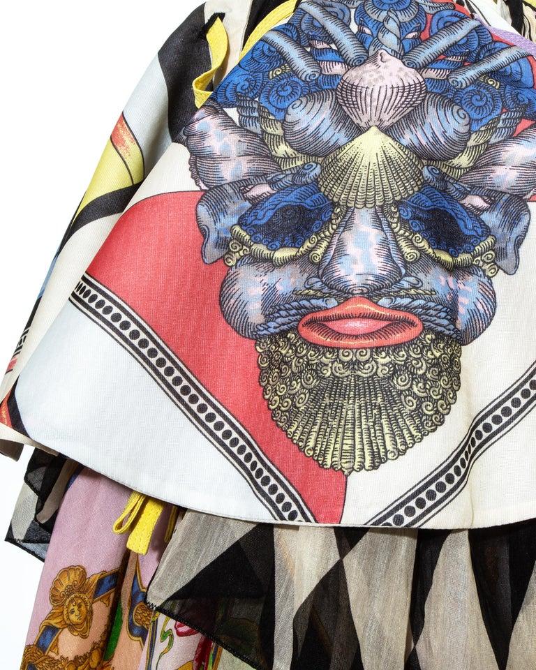 Gianni Versace printed silk organza peplum evening skirt, ss 1992 For Sale 3