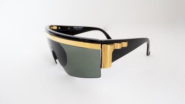 Gray Gianni Versace Rare 1980s Update Sunglasses For Sale