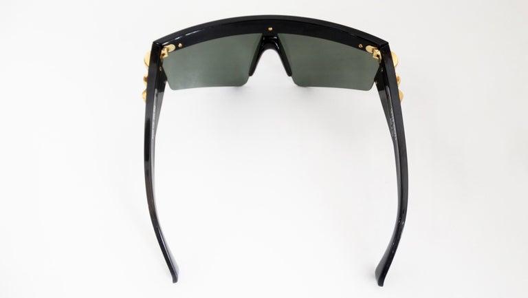 Women's or Men's Gianni Versace Rare 1980s Update Sunglasses For Sale