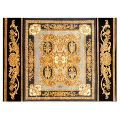 Gianni Versace Rug Home Signature Collection Black Gray Gold Rare Large Size
