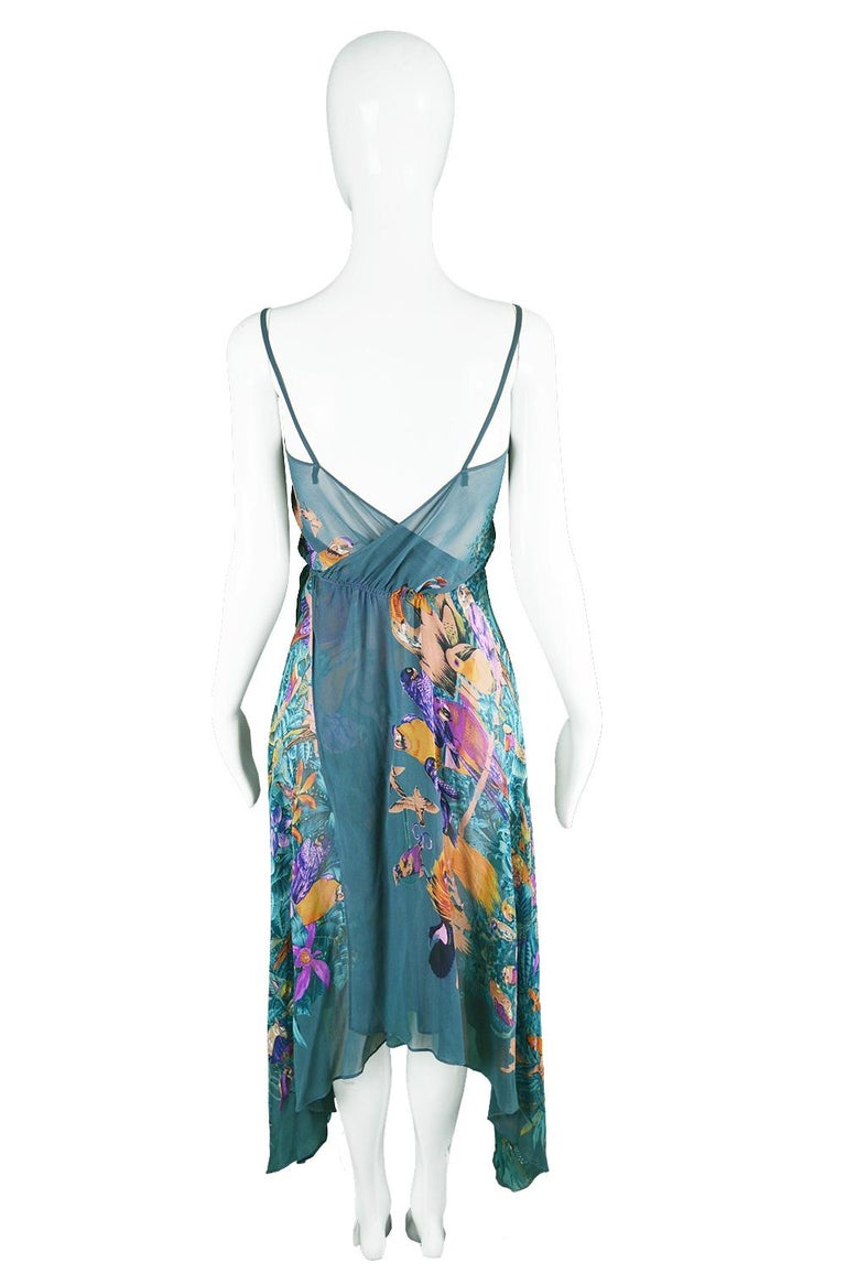Women's Gianni Versace S/S 1979 Early Vintage Silk Chiffon Handkerchief Dress For Sale