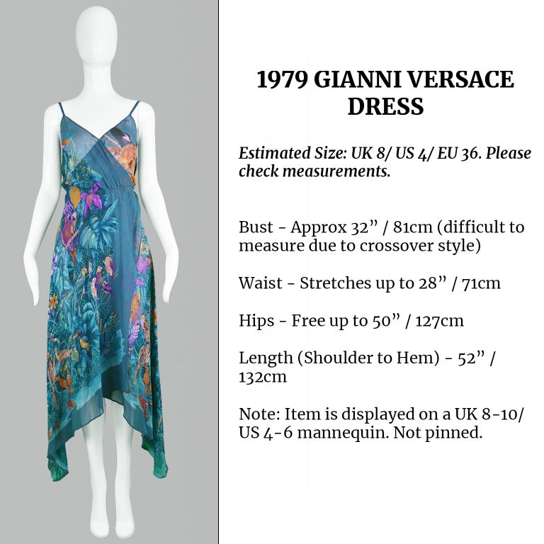 Gianni Versace S/S 1979 Early Vintage Silk Chiffon Handkerchief Dress For Sale 3