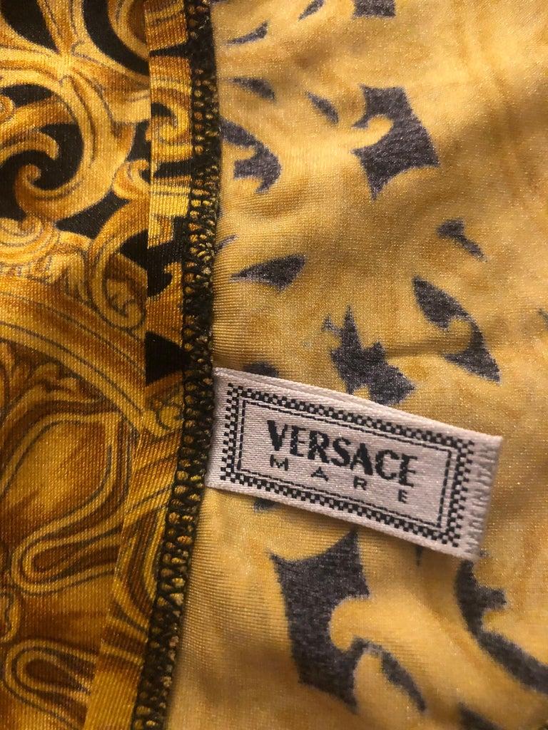 Gianni Versace S/S 1992 Baroque Seashell Backless Bodysuit Swimwear Swimsuit For Sale 6