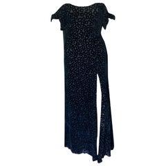 Gianni Versace S/S 1994 Vintage Black Evening Dress Gown