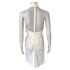 Gianni Versace S/S 2001 Runway Vintage Backless Plunged White Dress