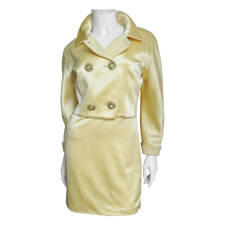 Gianni Versace Silk Dress and Jacket For Sale
