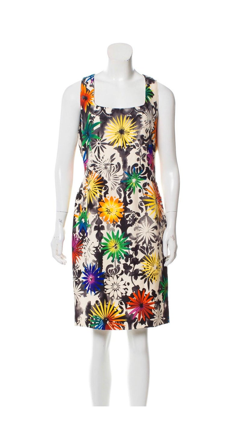 Gianni Versace Silk Printed Dress, 1990s In Excellent Condition For Sale In Austin, TX