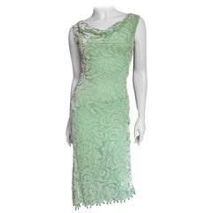 Gianni Versace Silk Velvet Dress with Bead Trim
