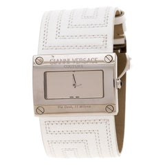 Gianni Versace Silver Stainless Steel V-Couture 71O Women's Wriswatch 40MM