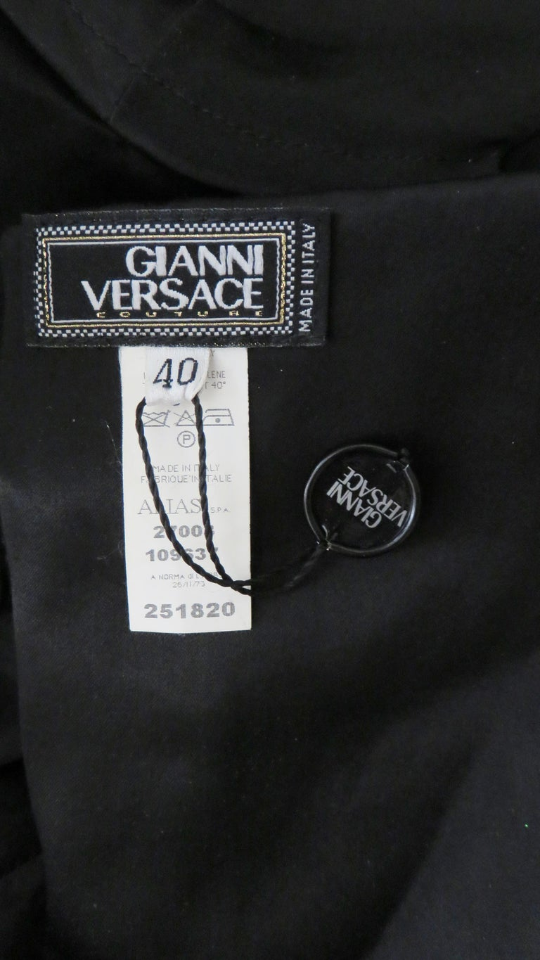 Gianni Versace Strapless Lace Up Back Dress For Sale 12