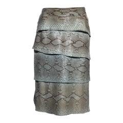 Gianni Versace turquoise python panelled skirt, fw 1999