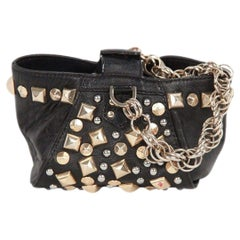 Gianni Versace Versace For H&M Limited Edition Black Leather Studded Mini Bag