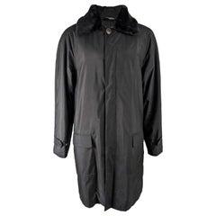 Gianni Versace Versus Mens Vintage Faux Fur Collar Coat