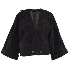 Gianni Versace Vintage 1980s Black Suede Jacket