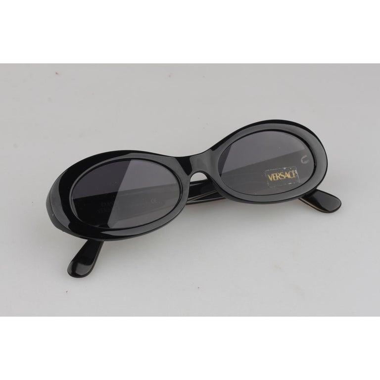 4638c0e9af Gianni Versace Vintage Black Sunglasses Mod 307 Col 451 New Old ...