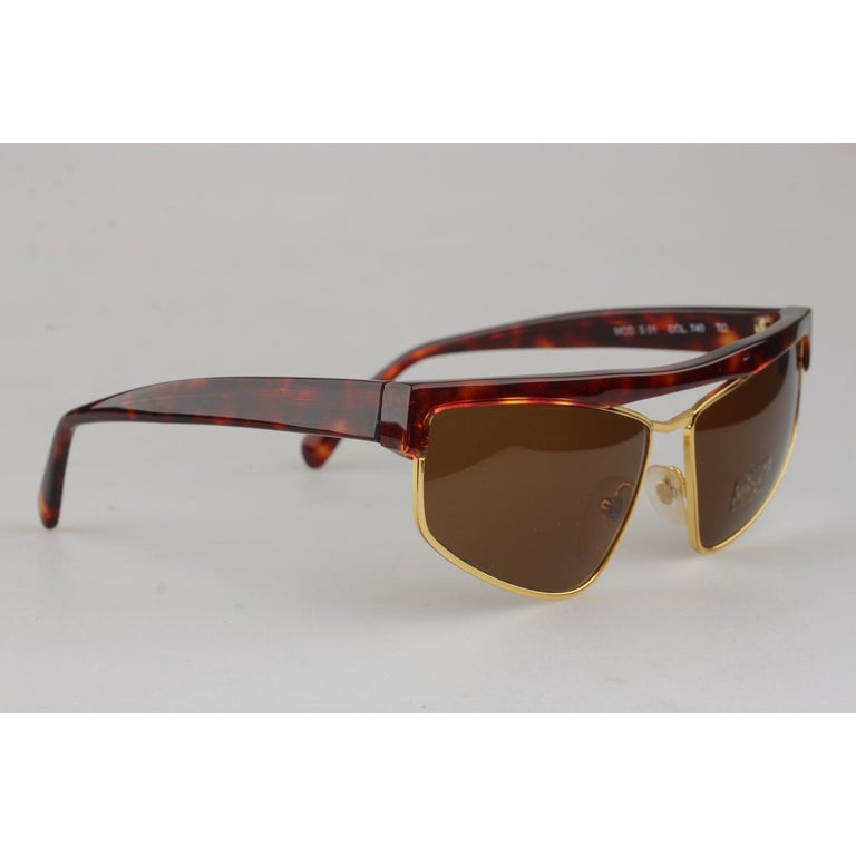 104319baf Gianni Versace Vintage Brown Sunglasses Mod. S01 Col 740 New Old Stock In  New Condition