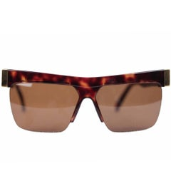 Gianni Versace Vintage Gold / Brown Sunglasses Mod. 399 Col 740 60/15 Eyewear