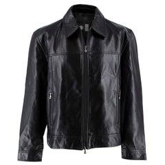 Gianni Versace Vintage Leather Biker Jacket - Us size 44