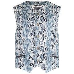 Gianni Versace Vintage Mens Snakeskin Print Vest