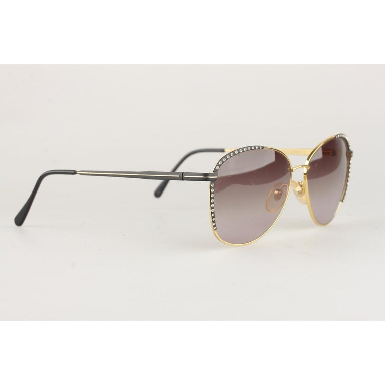 caf5b4c595f65 Women s Gianni Versace Vintage Mint Sunglasses Rhinestones V13 135mm wide  For Sale
