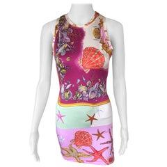 """Gianni Versace Vintage S/S 1992 Runway """"Tresor de la Mer"""" Bodycon Dress"""