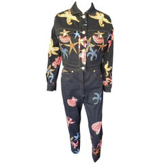 Gianni Versace Vintage S/S 1992 Trezor de la Mer Jacket & Pants Suit 2 Piece Set