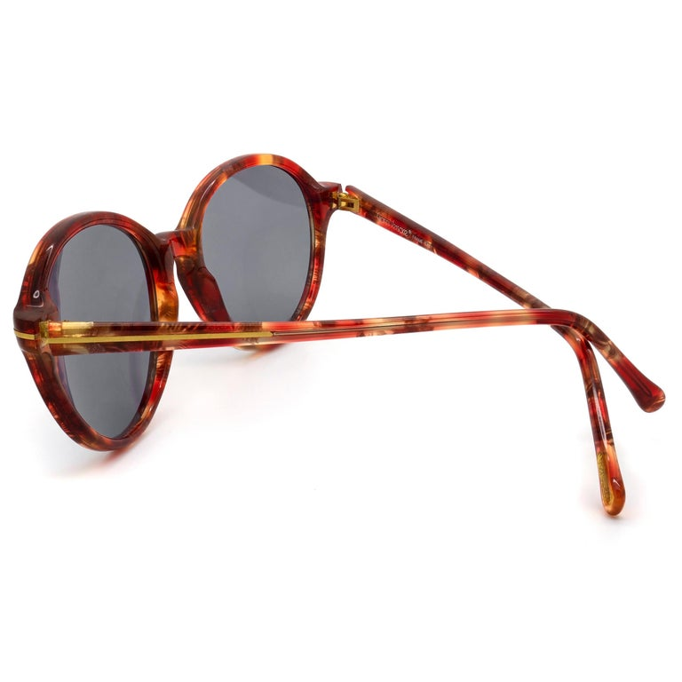 Gray Gianni Versace vintage sunglasses 80s For Sale