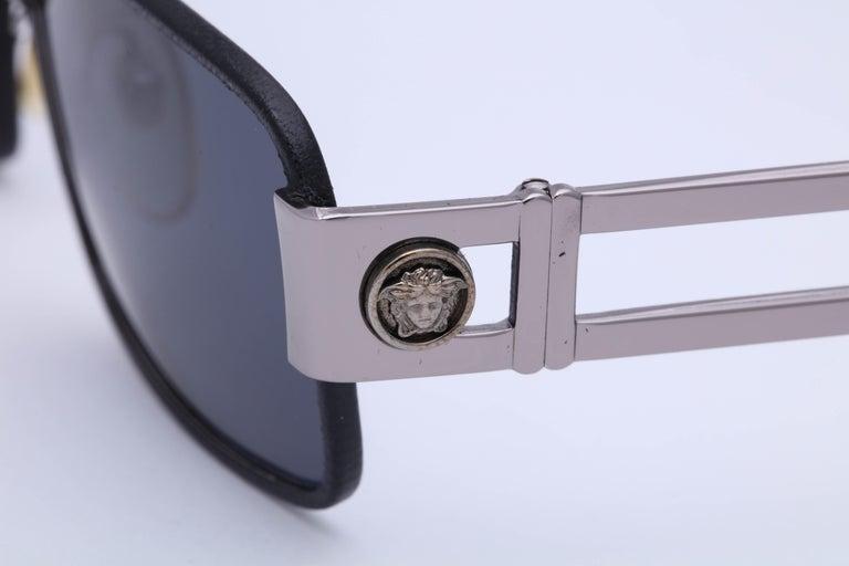 Gray Gianni Versace Vintage Sunglasses Mod S55/P