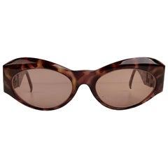 Gianni Versace Vintage Tortoise Sunglasses Mod T94/C Crystals