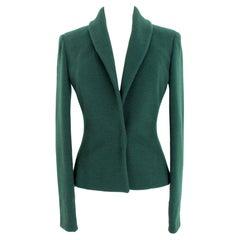 Gianni Versace Wool Green Short Jacket