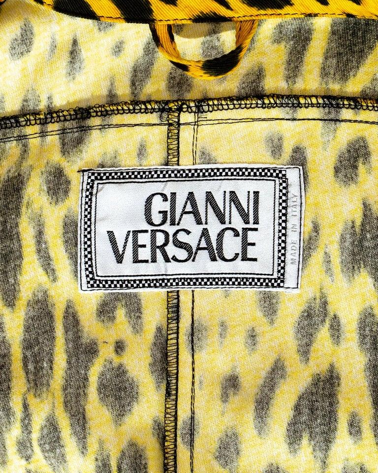 Gianni Versace yellow leopard print four piece ensemble, ss 1992 4