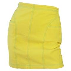 Gianni Versace Yellow Mini Skirt, 1990s