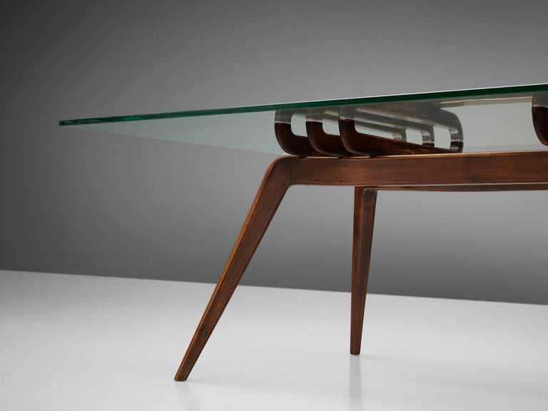 Glass Gianni Vigorelli Sculptural Coffee Table For Sale