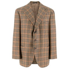 Gianni Volpe Napoli Patterned Single Breasted Blazer - Estimated Size L