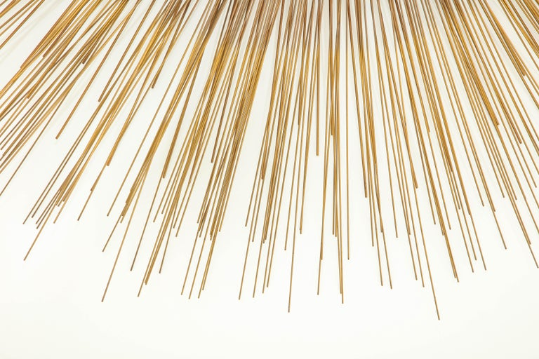 Giant 1970s Brass Sunburst Wall Sculpture by Curtis Jere For Sale 2