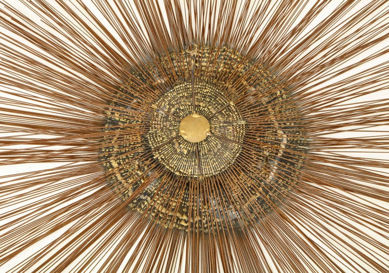 Giant 1970s Brass Sunburst Wall Sculpture by Curtis Jere For Sale 3